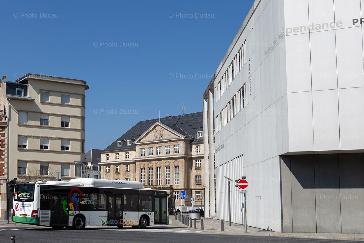 TICE bus in Esch-sur-Alzette