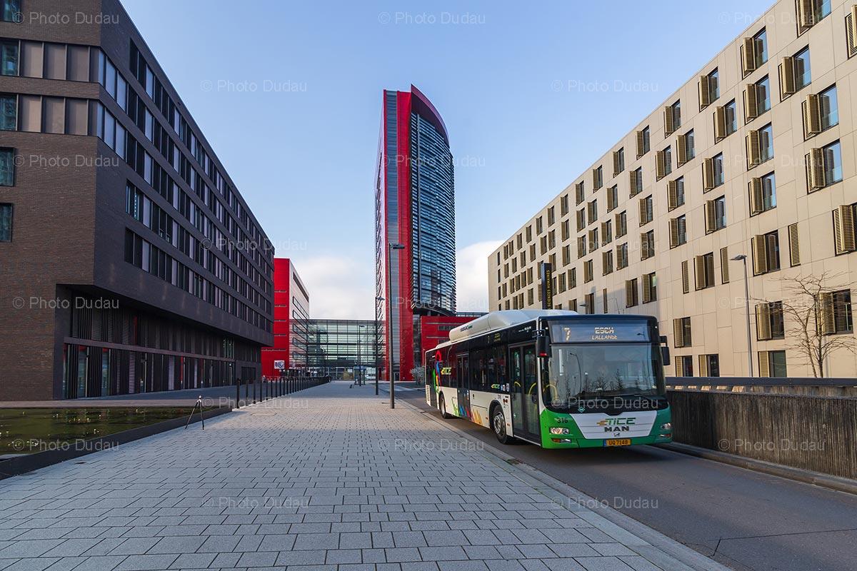 TICE bus in Belval, Esch-sur-Alzette
