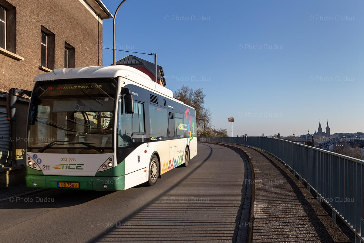 TICE bus in Dudelange