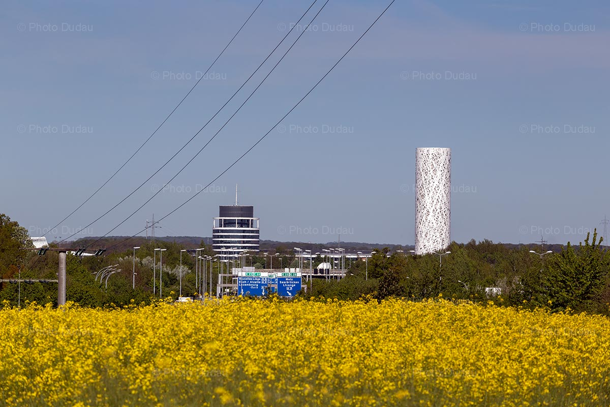 Gasperich water tower in Luxembourg