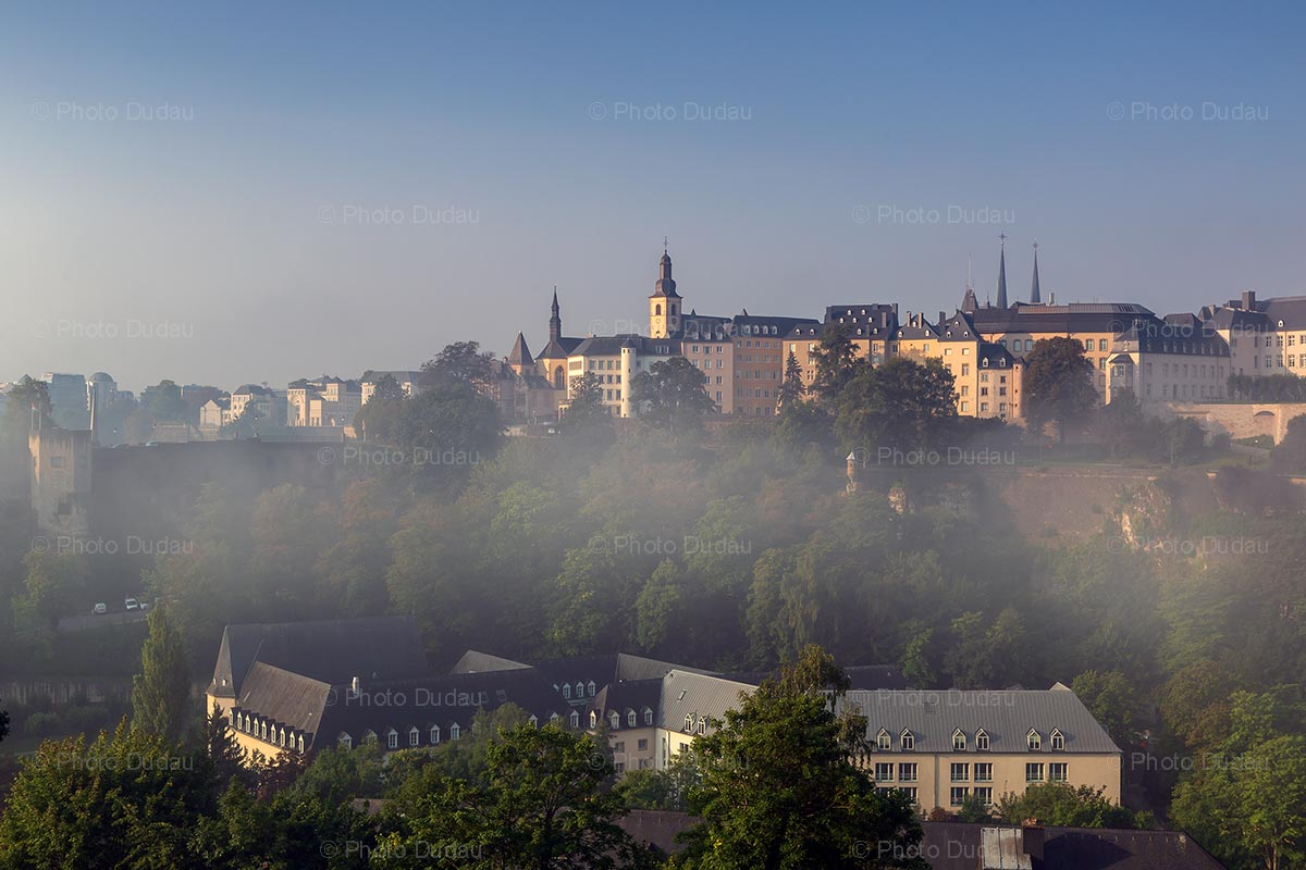 Foggy Luxembourg city