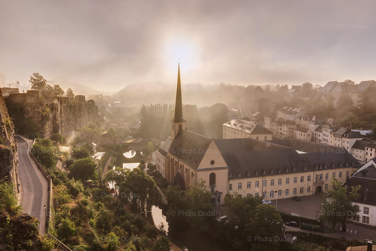 Foggy morning in Luxembourg city