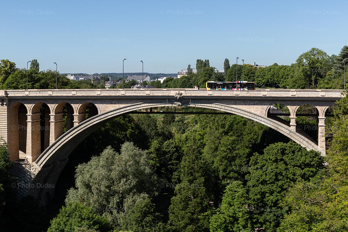 Pont Adolphe bridge in Luxembourg