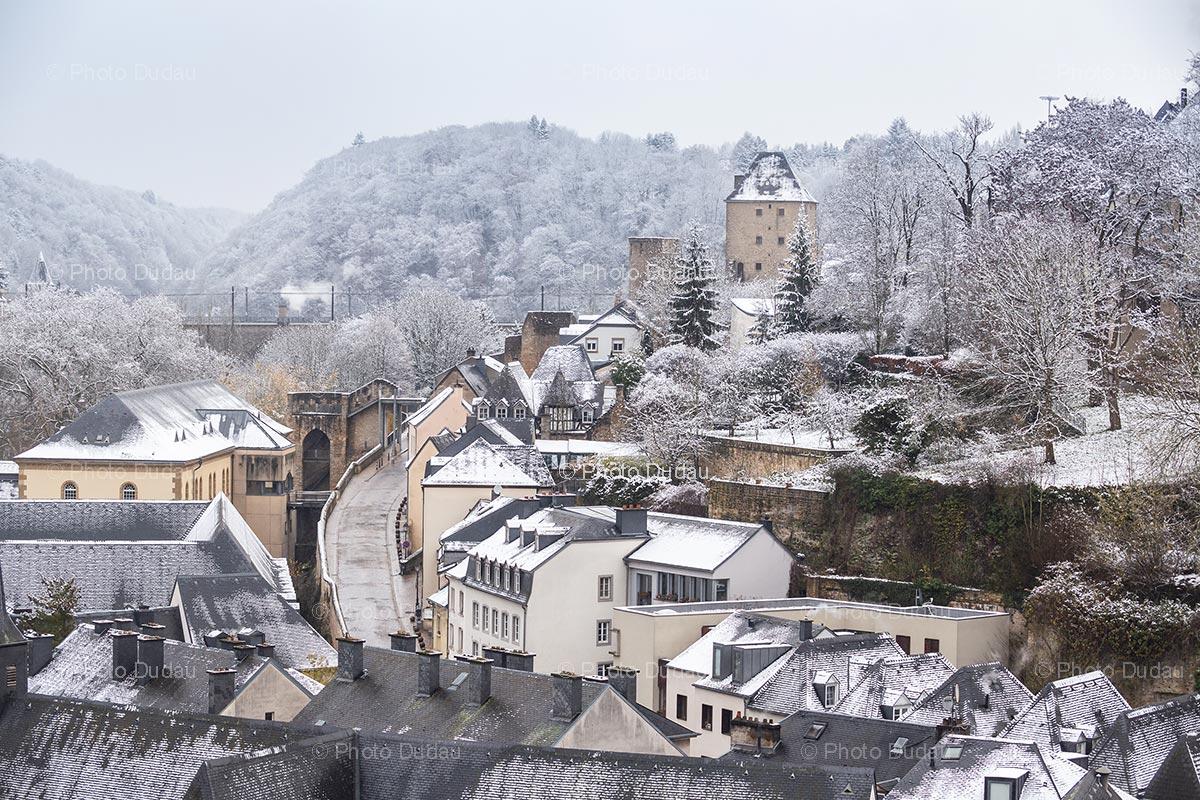 Rham Plateau in Luxembourg in winter