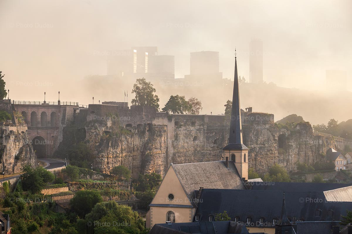 Foggy Grund in Luxembourg city