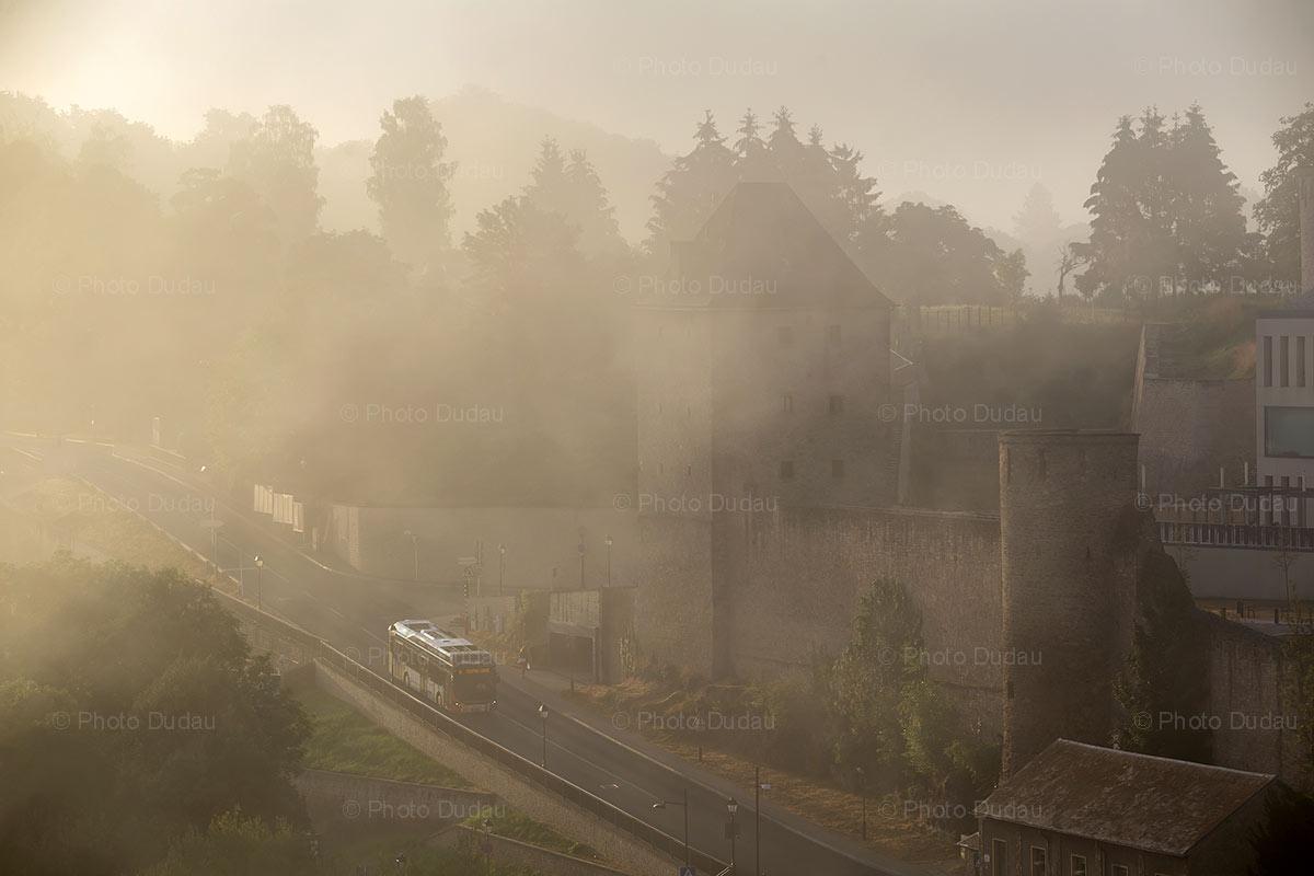 Foggy Rham Plateau in Luxembourg