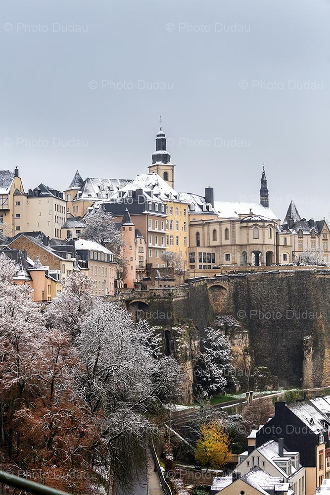 Luxembourg Ville Haute in winter
