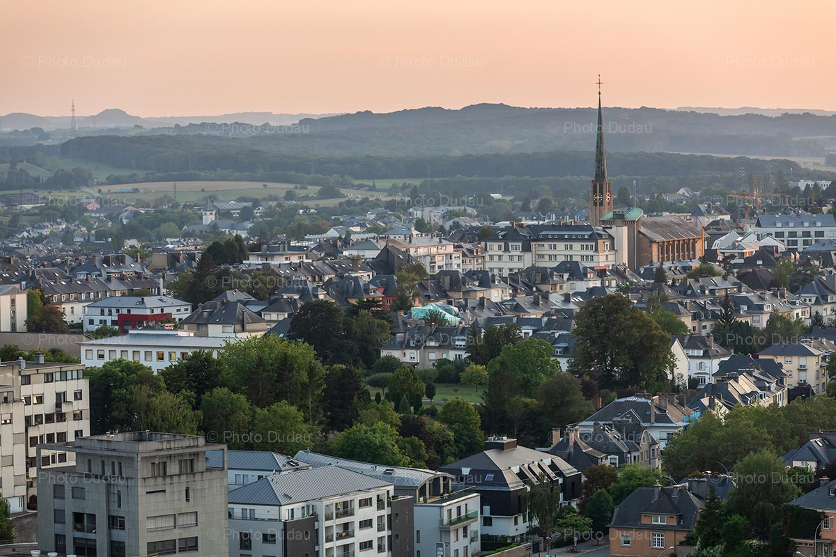 Aerial view of Belair in Luxembourg city