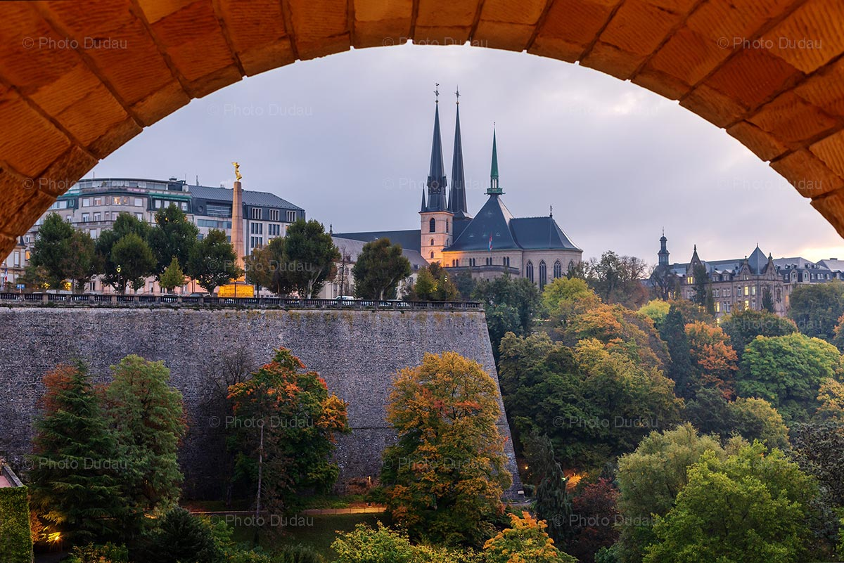 Evening in central Luxembourg city