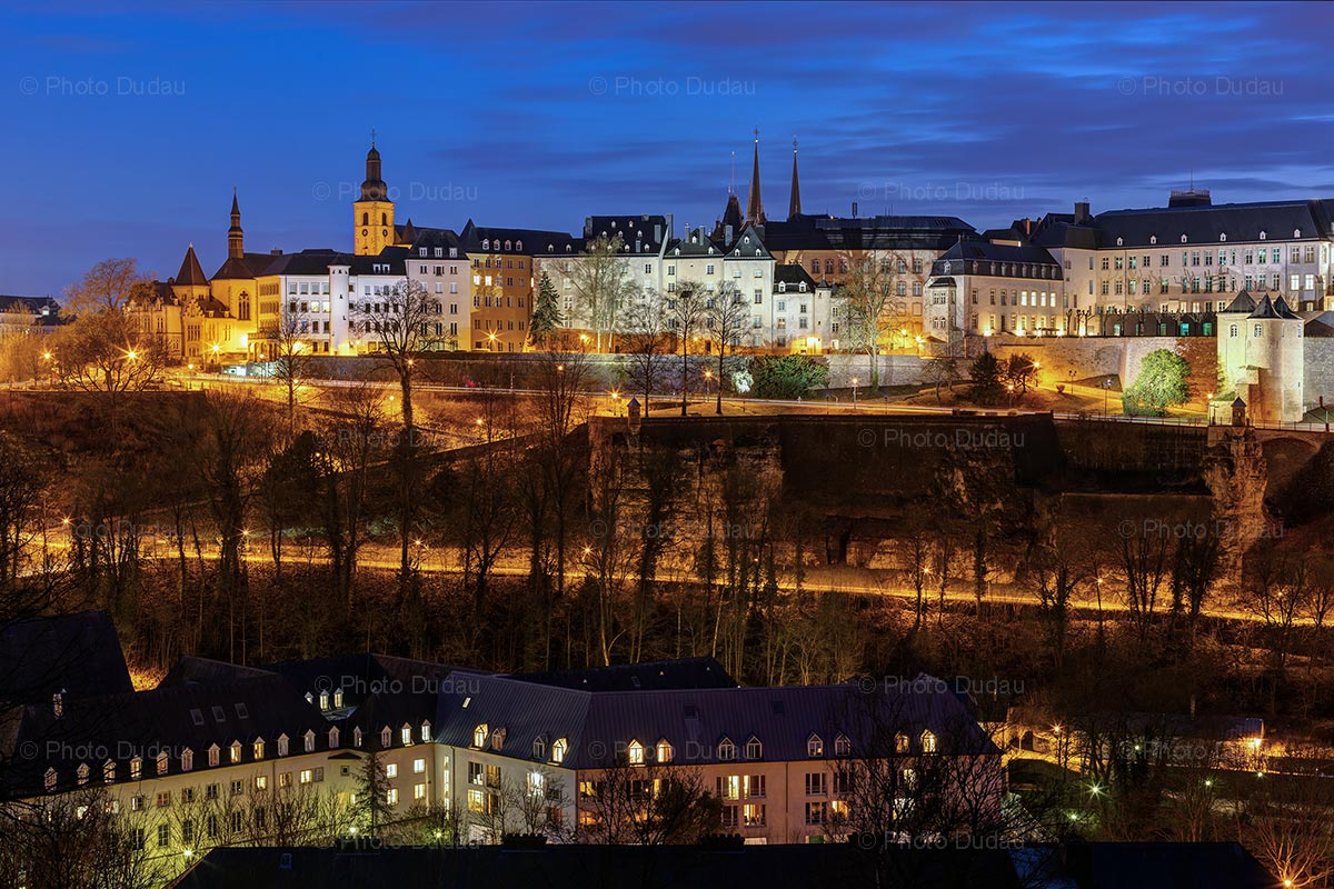 Luxembourg cityscape at night