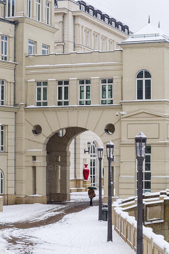 Winter snow at Cite Judiciare