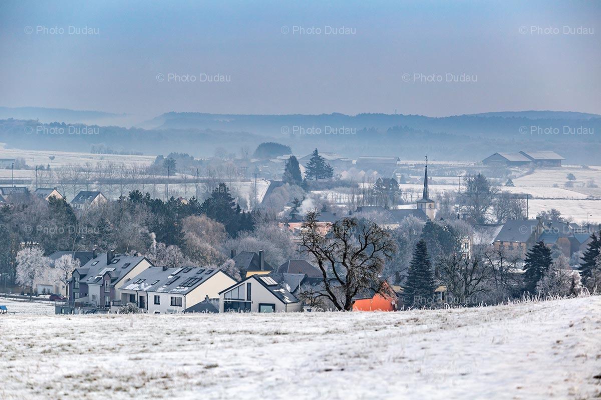 Cristnach village in winter