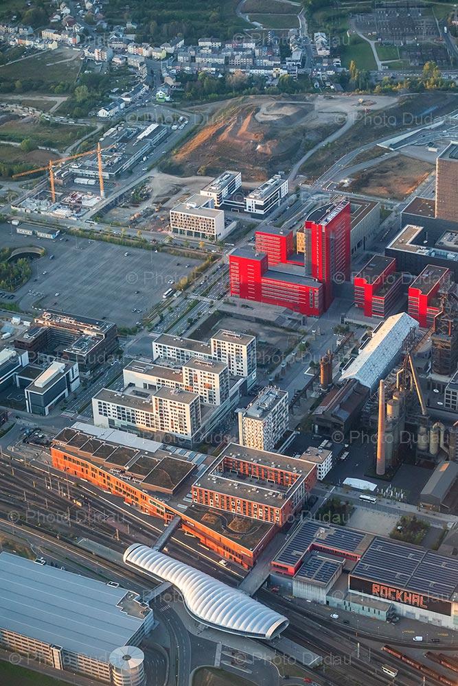 Belval Esch aerial view