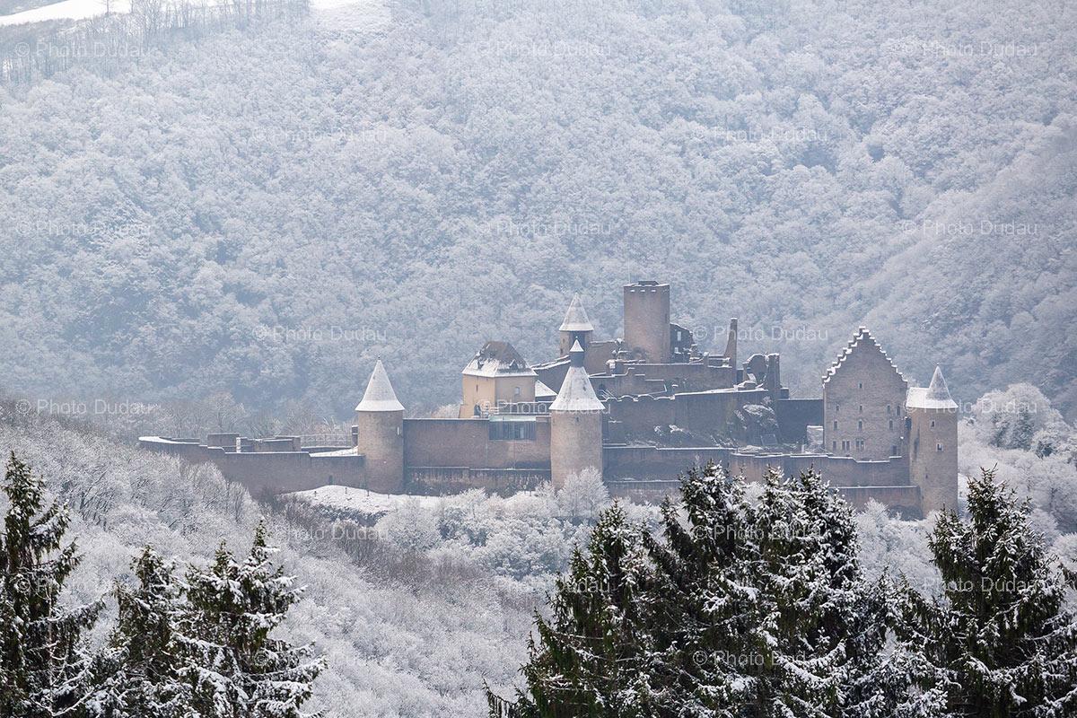 Bourscheid Castle in winter