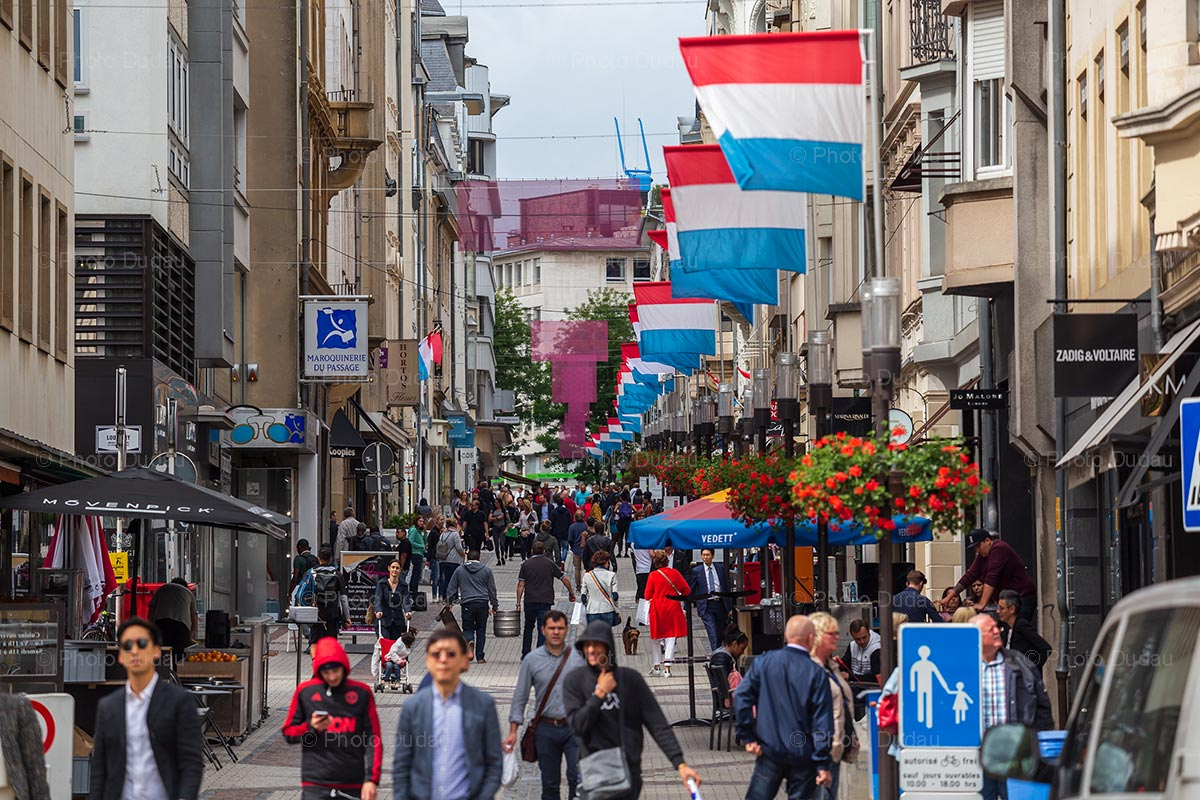 People on the street on Luxembourg National Day