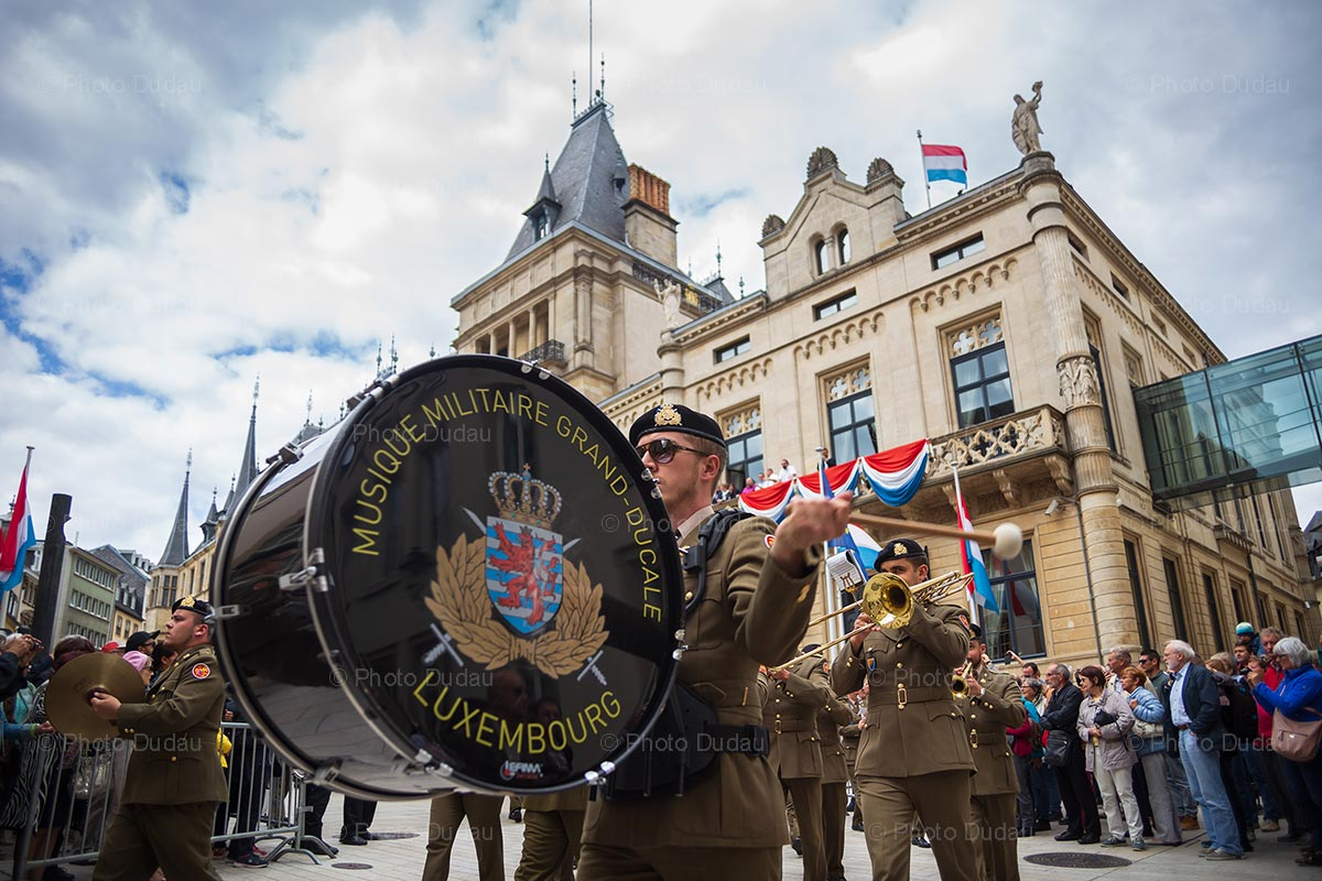 Military orchestra on Luxembourg National Day