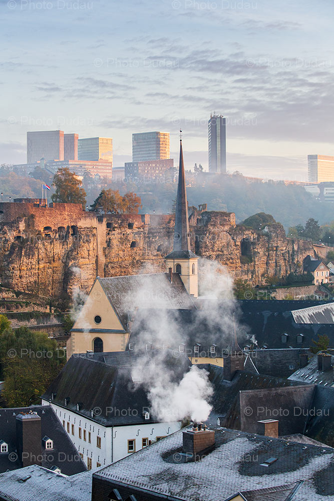 Old vs modern in Luxembourg city