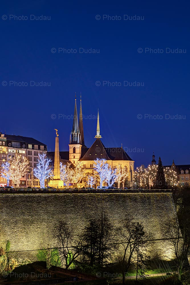 Christmas lights in Luxembourg city