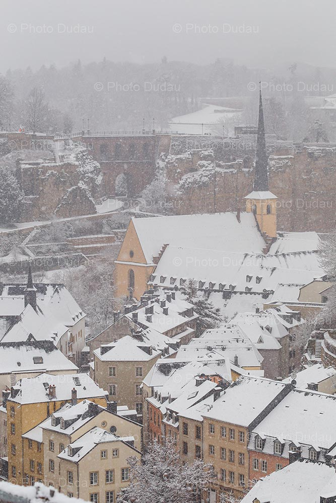 Blizzard in Luxembourg city