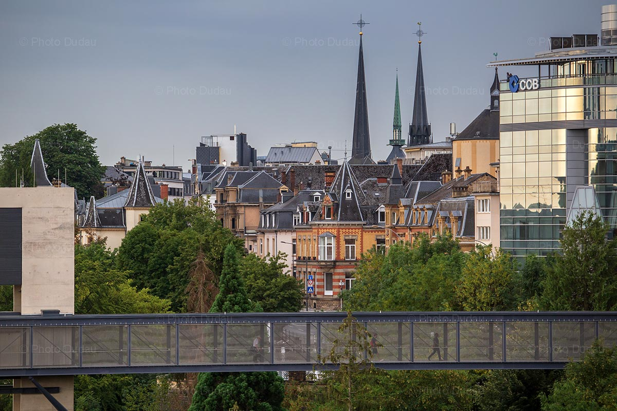 Old and new architecture in Luxembourg city