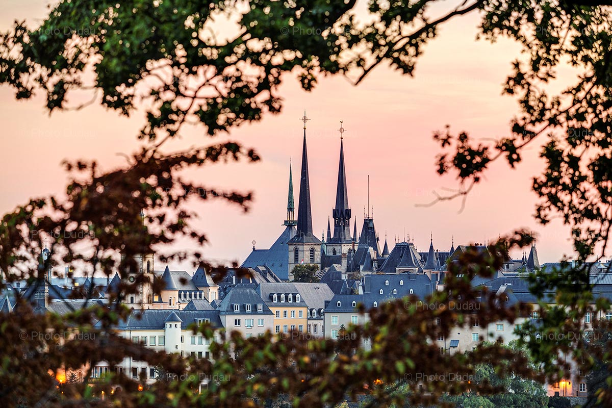 Sunset in Luxembourg city