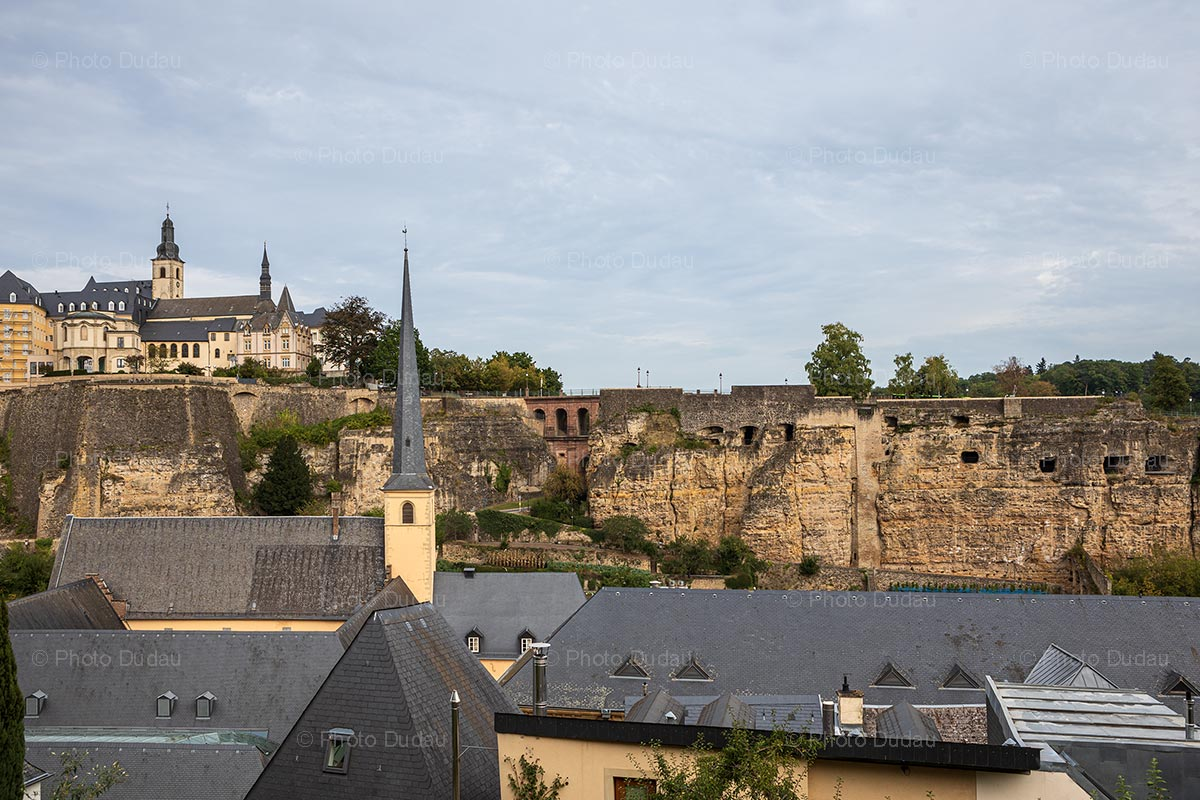 Neumunster Abbey and Bock Casemates in Luxembourg