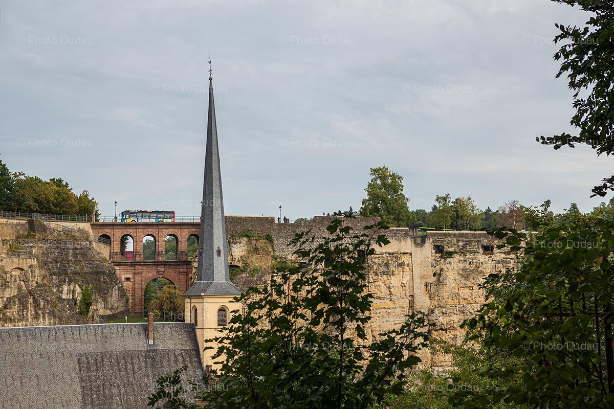 Abbaye de Neumunster and Pont du Chateau in Luxembourg