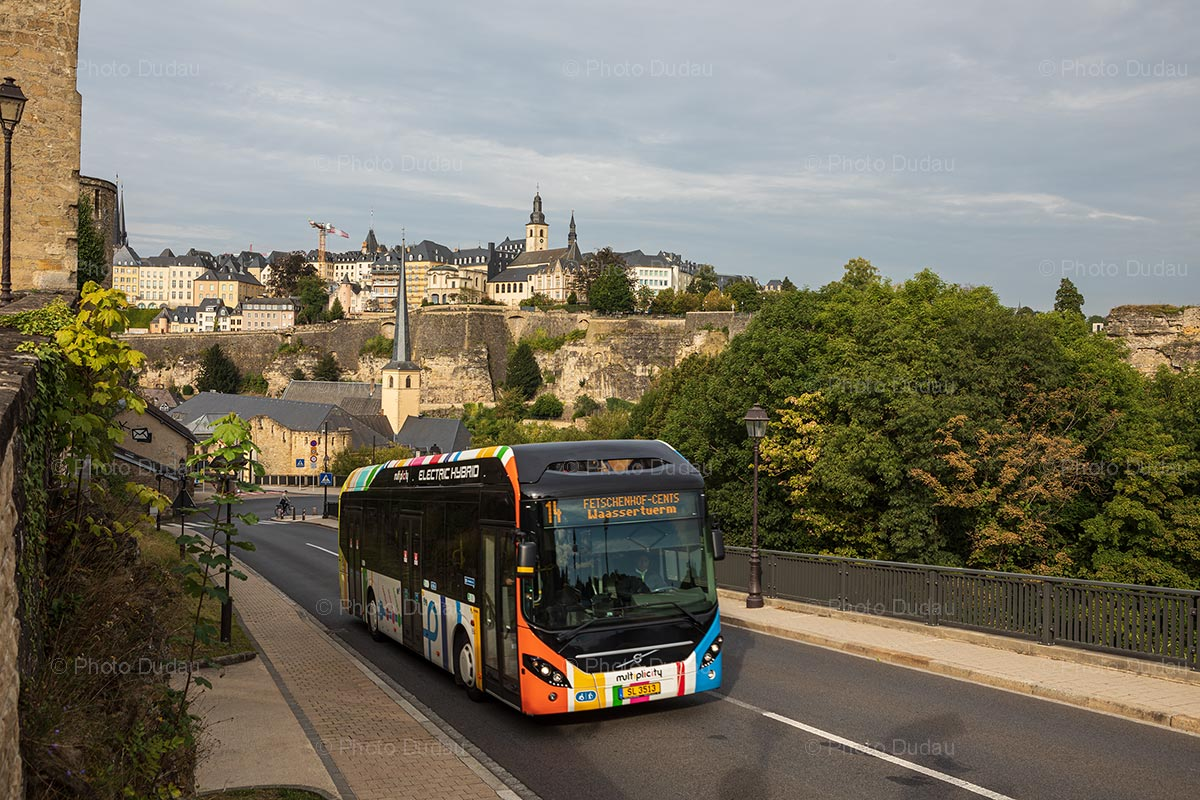 Public transport bus in Luxembourg
