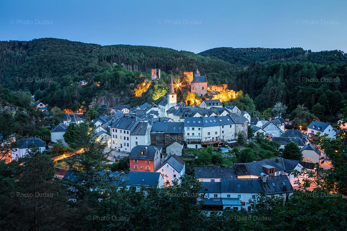 Esch-sur-Sure in Luxembourg at night
