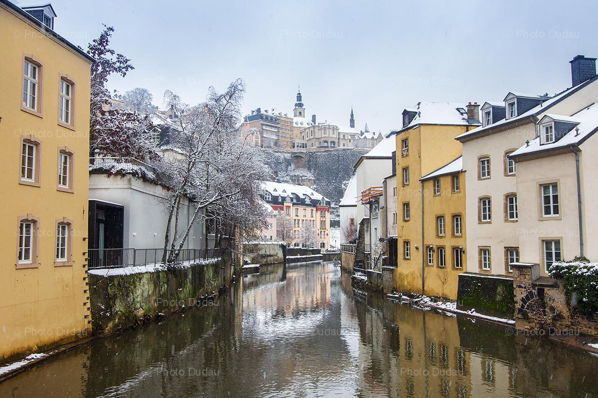 Snow in Luxembourg Grund