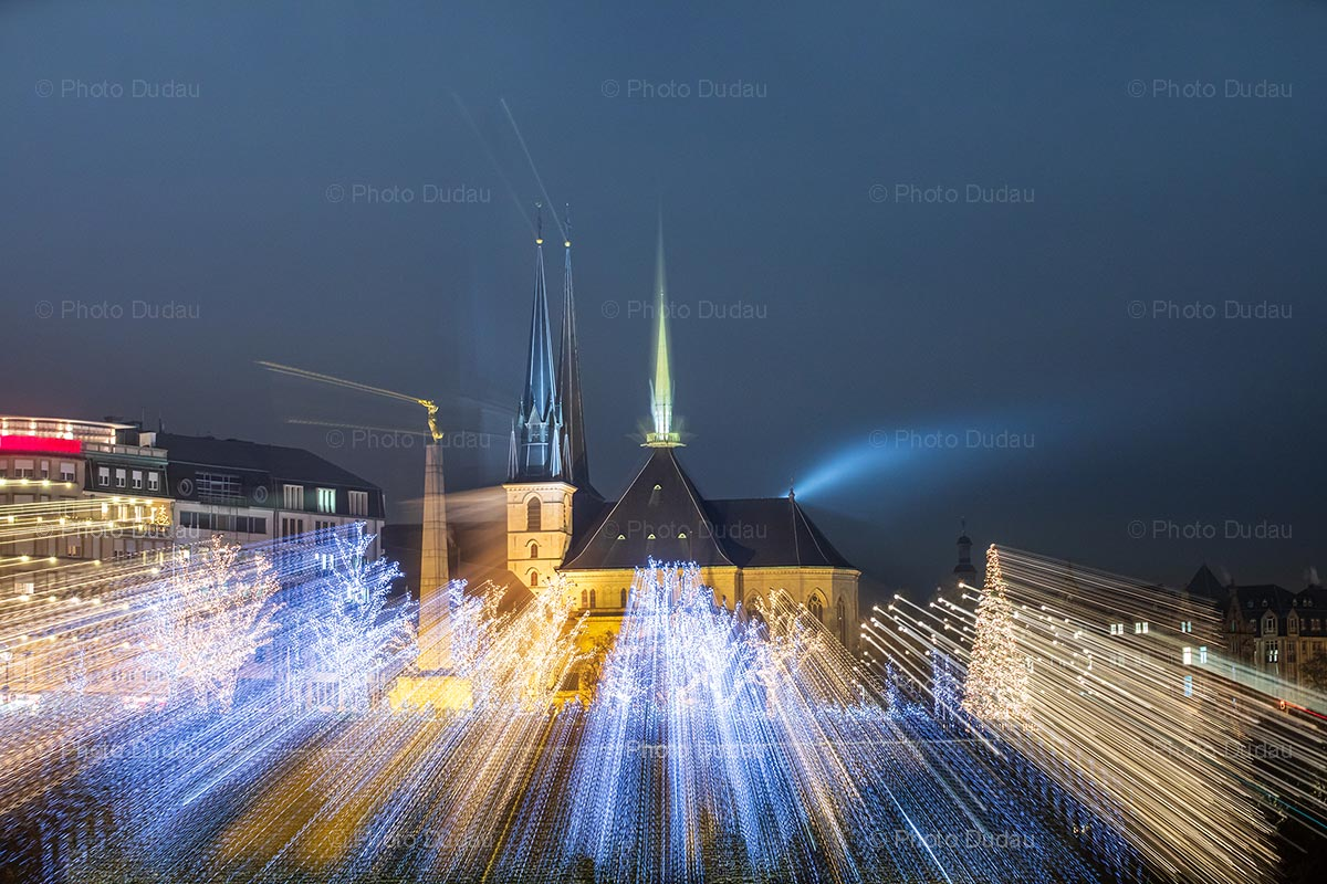 Festive lights in Luxembourg city