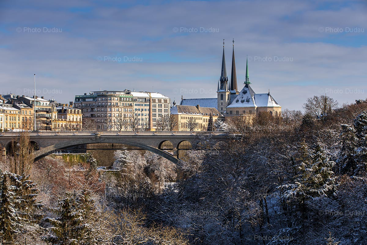 Luxembourg city in winter
