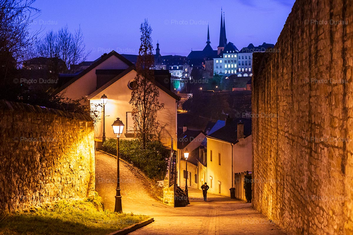 Night in Luxembourg city