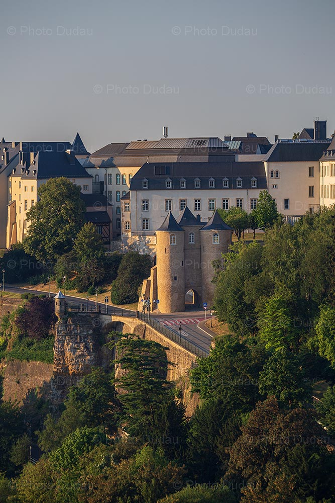 Medieval Three Towers Gate in Luxembourg