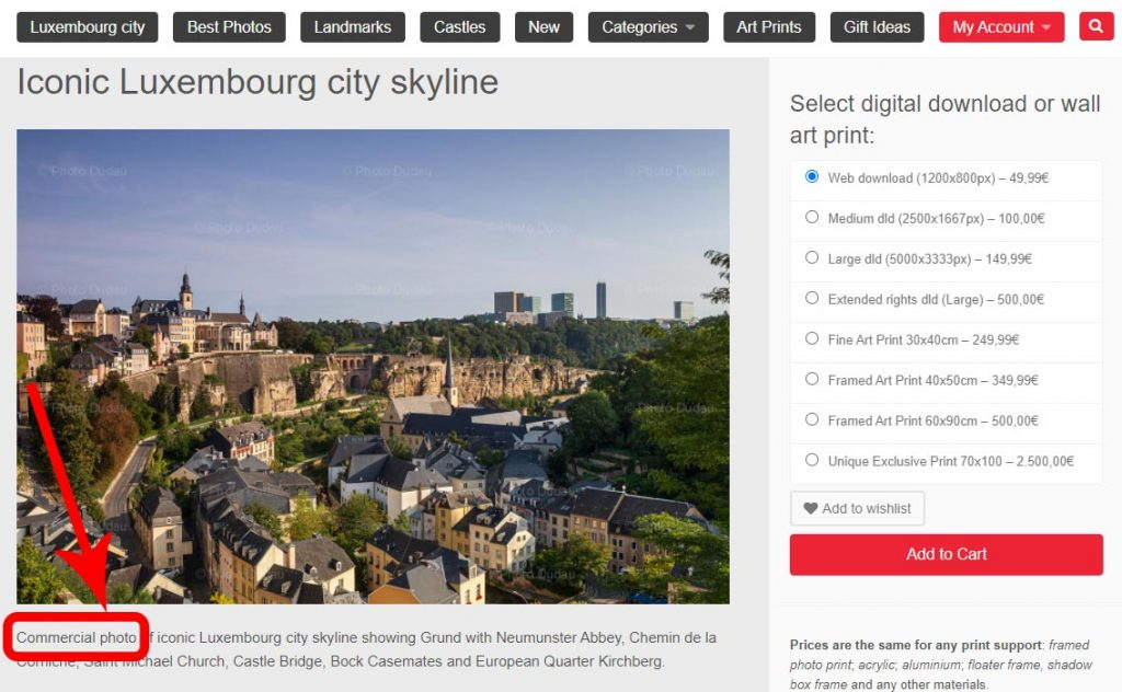 Luxembourg commercial photos