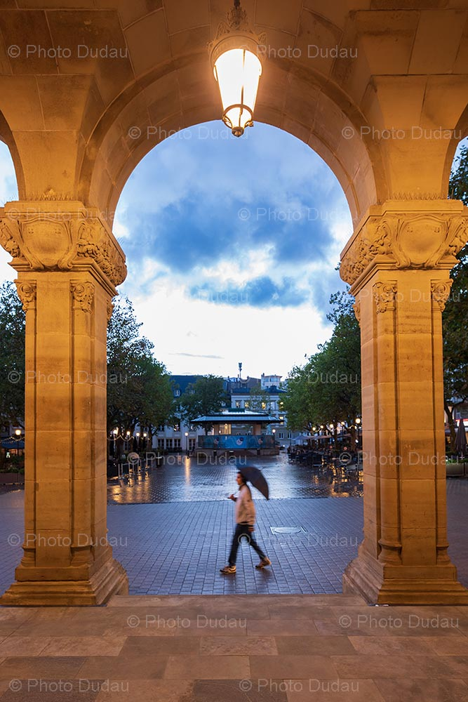 Evening in Luxembourg Place d'Armes