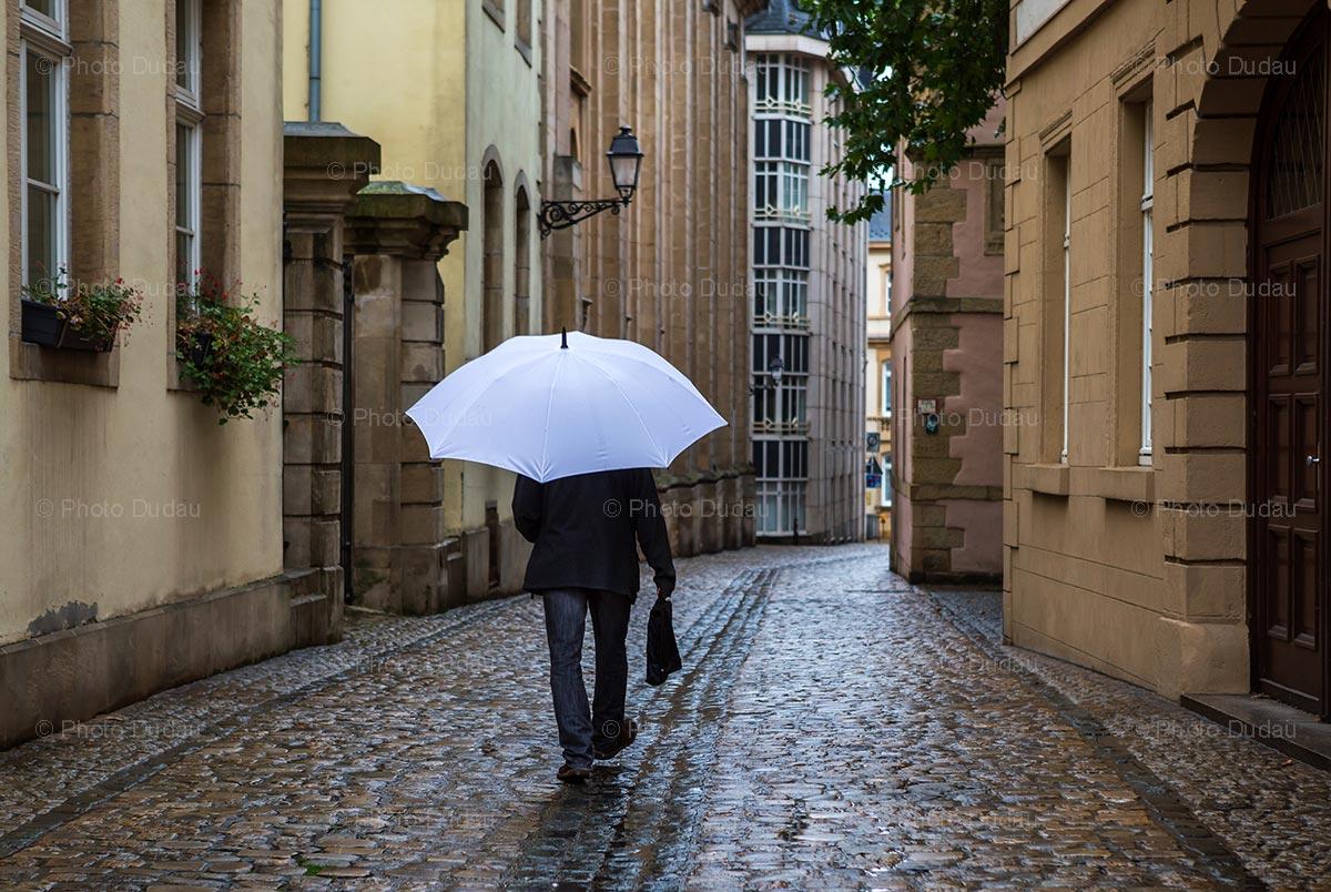 Rain on Luxembourg street