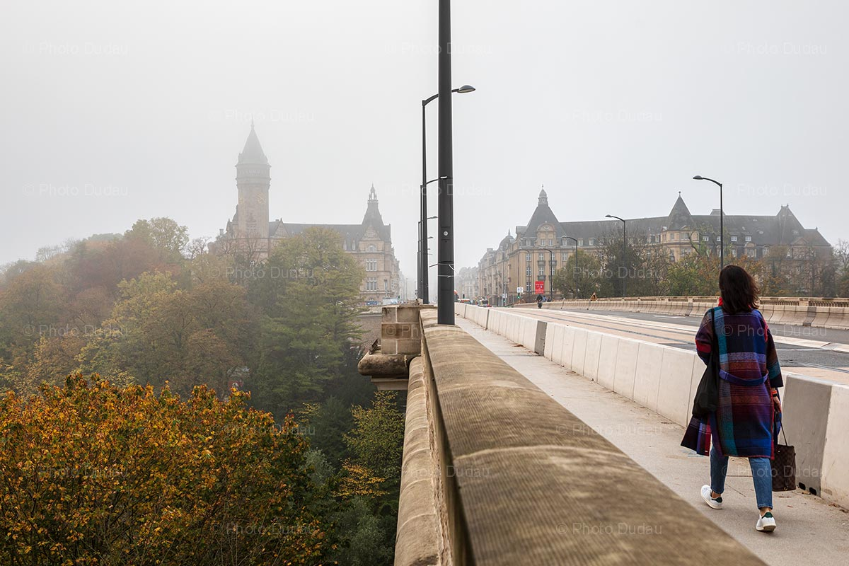 Grey foggy day in Luxembourg