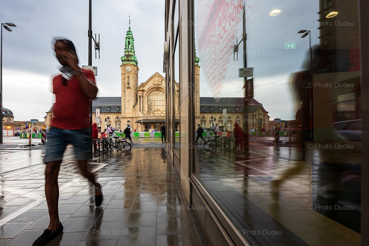 Street photo at the Gare in Luxembourg