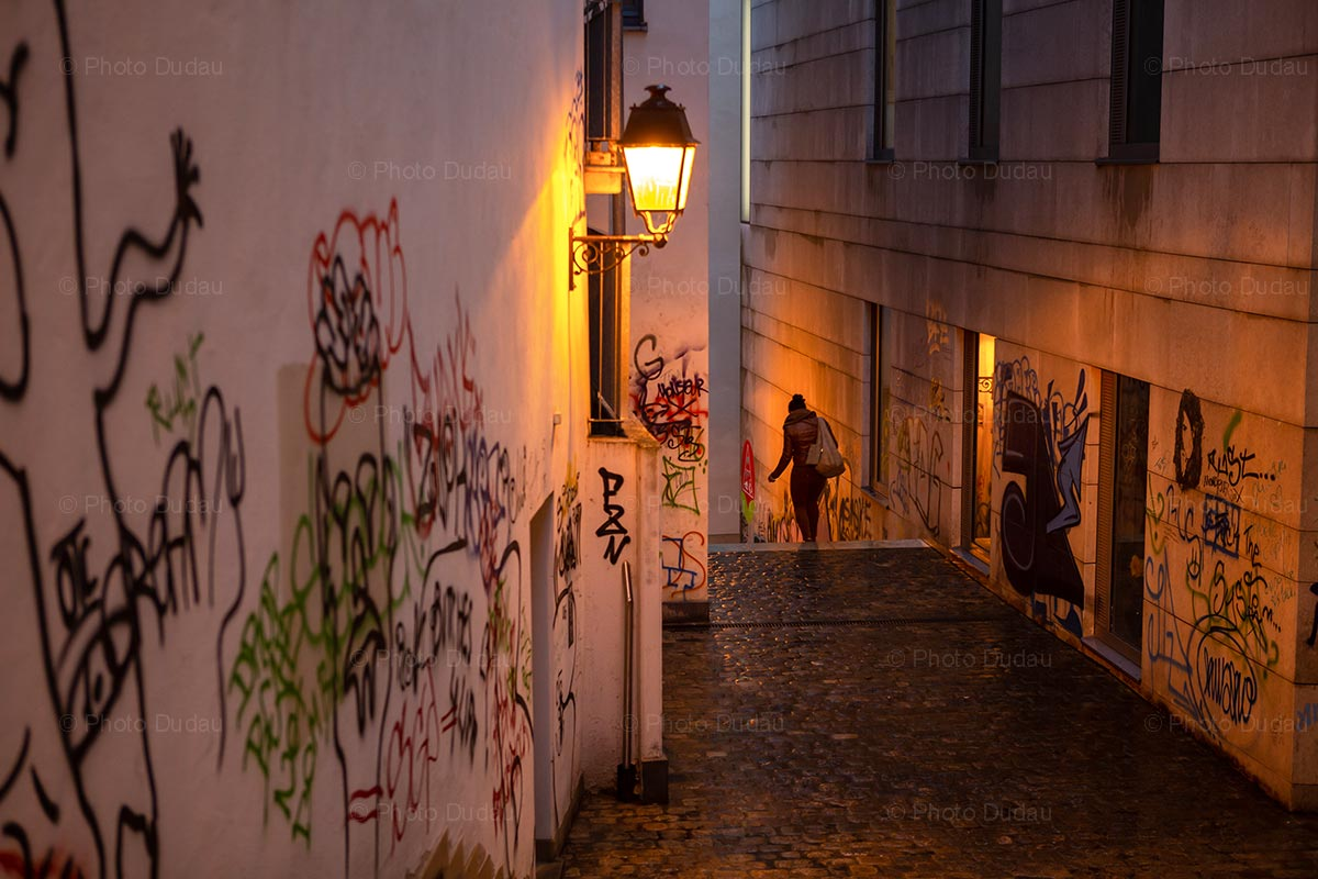 Street at night in Luxembourg city