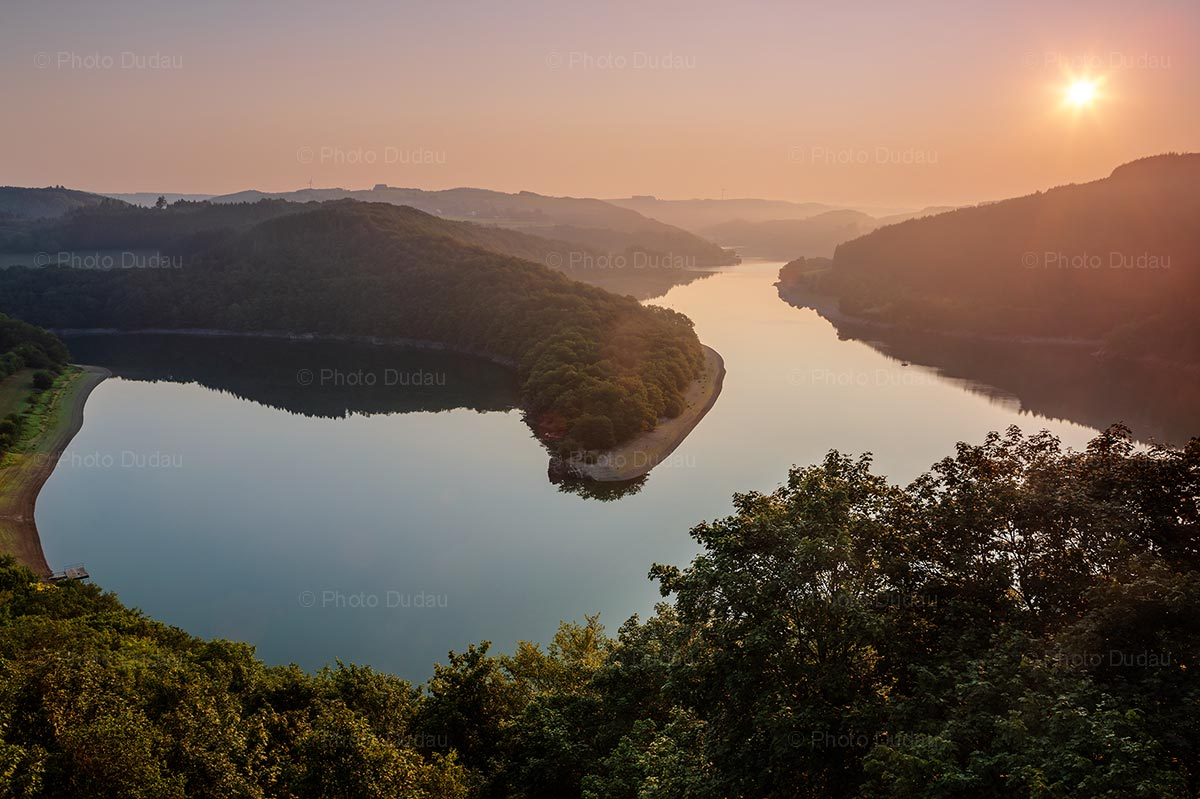 Upper-Sûre lake at sunrise