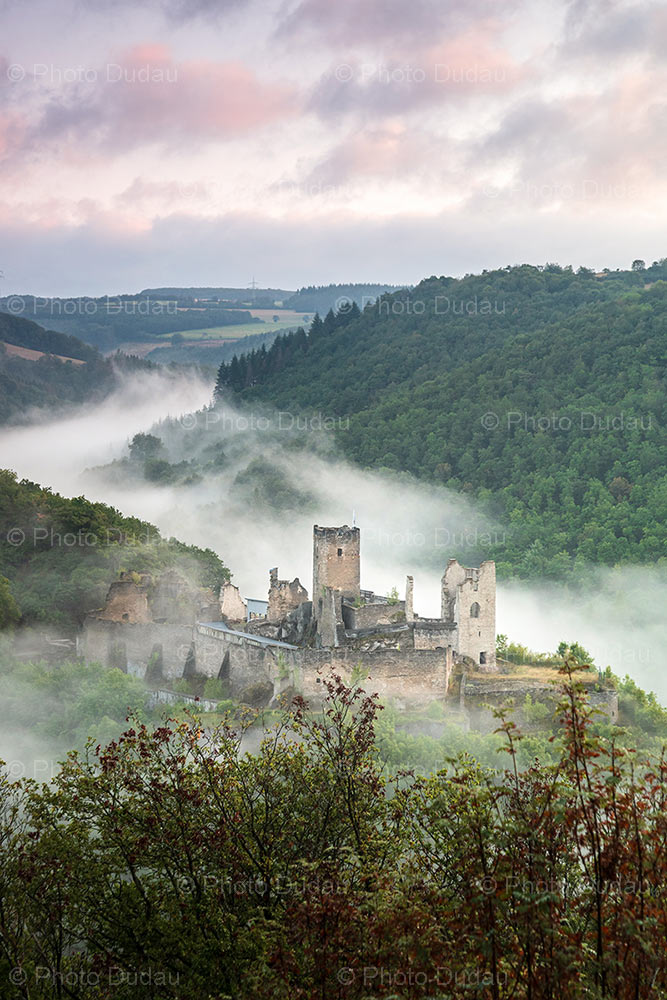 Brandenbourg Castle in fog