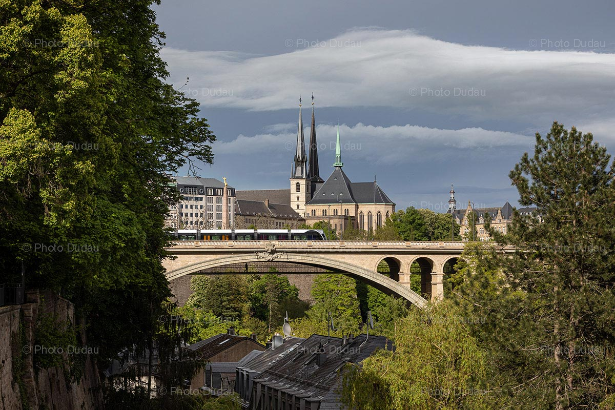 Pont Adolphe and Notre Dame in Lux