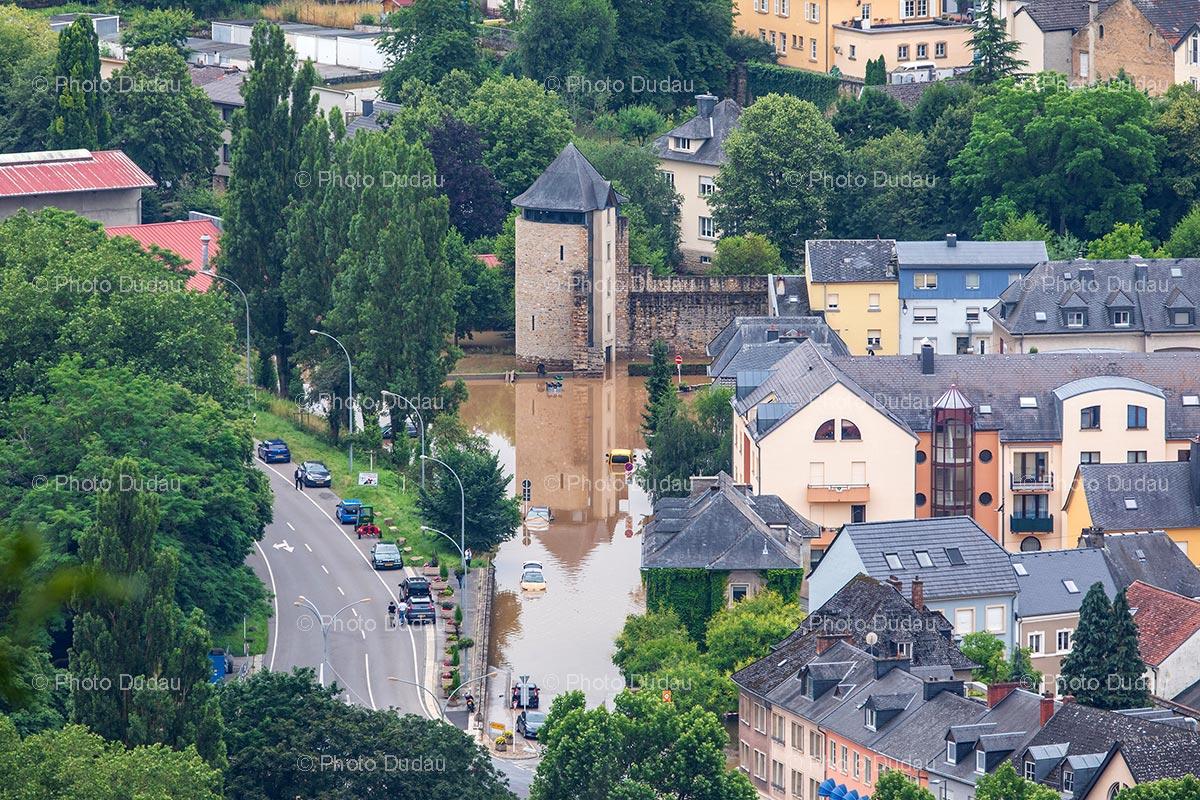 Floods in Echternach, Luxembourg