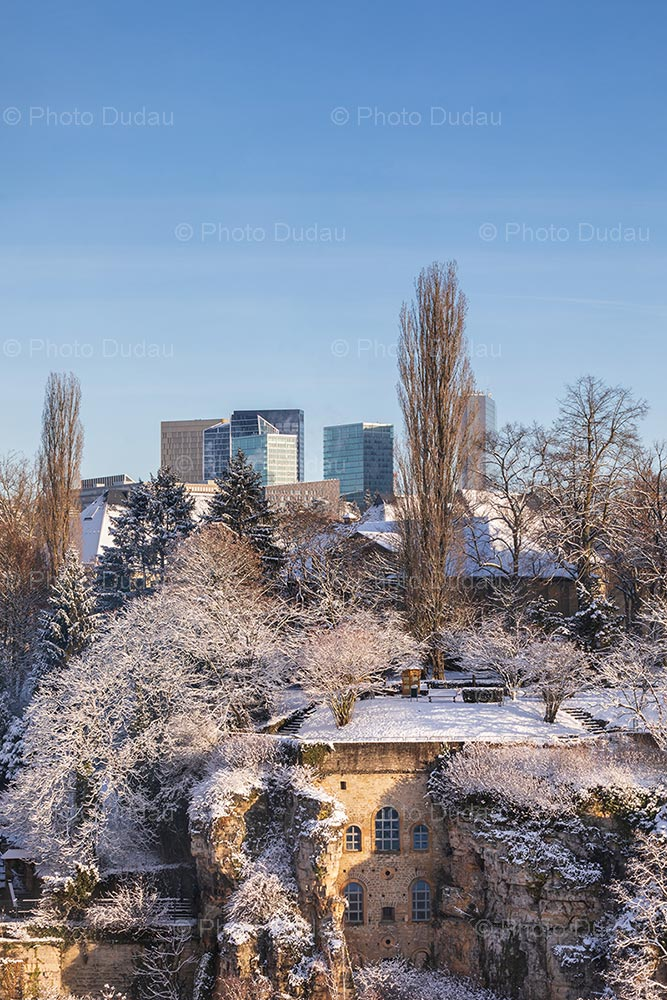 Winter in Luxembourg - old vs new