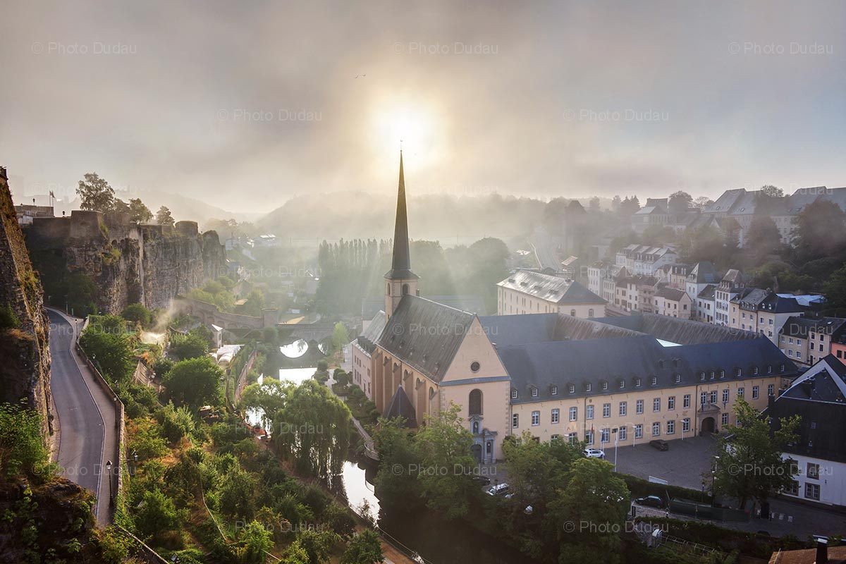 Misty morning in Luxembourg city