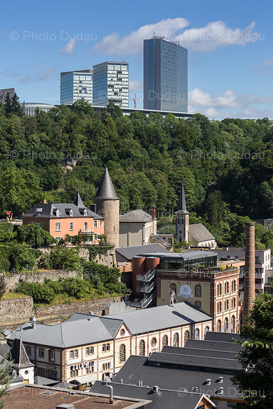 Clausen and Kirchberg in Luxembourg city.