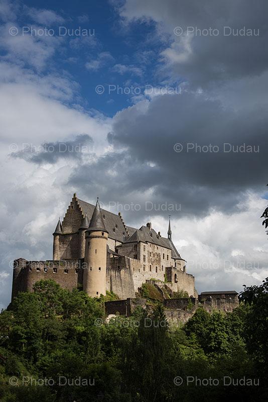 Vianden Castle stock photo
