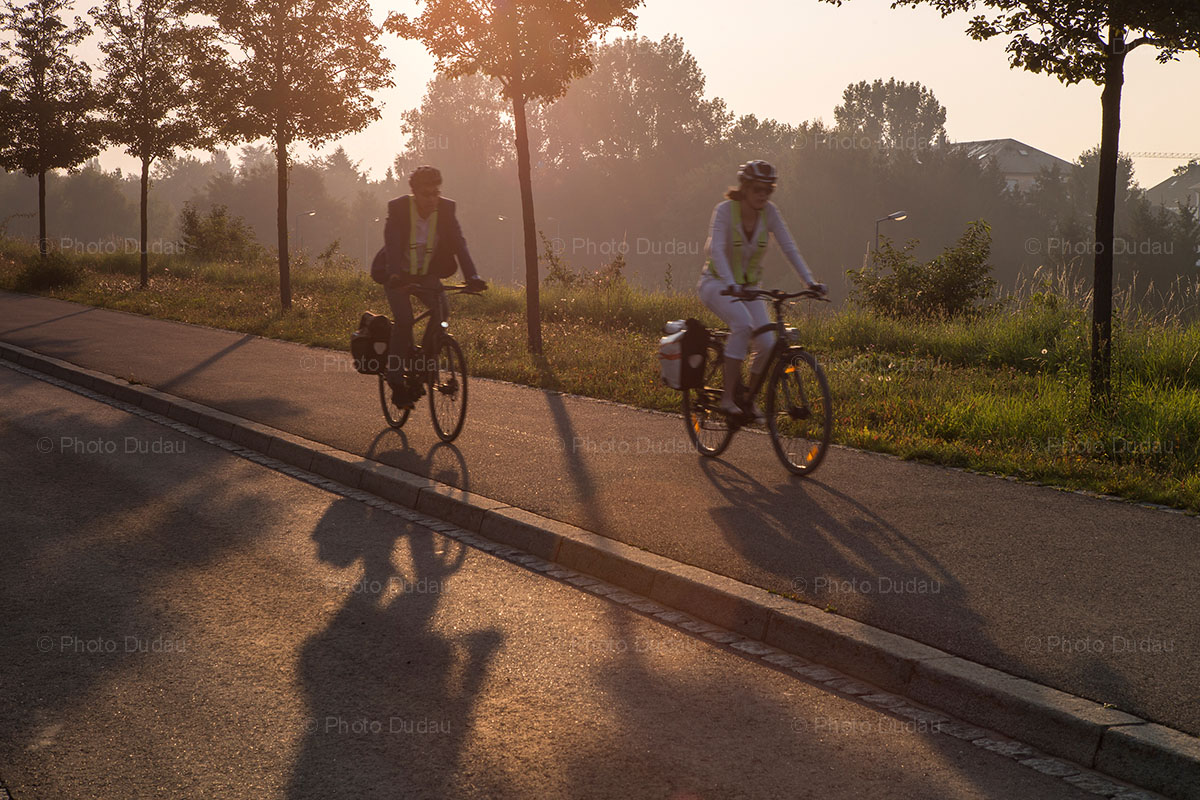 Riding bikes in Luxembourg
