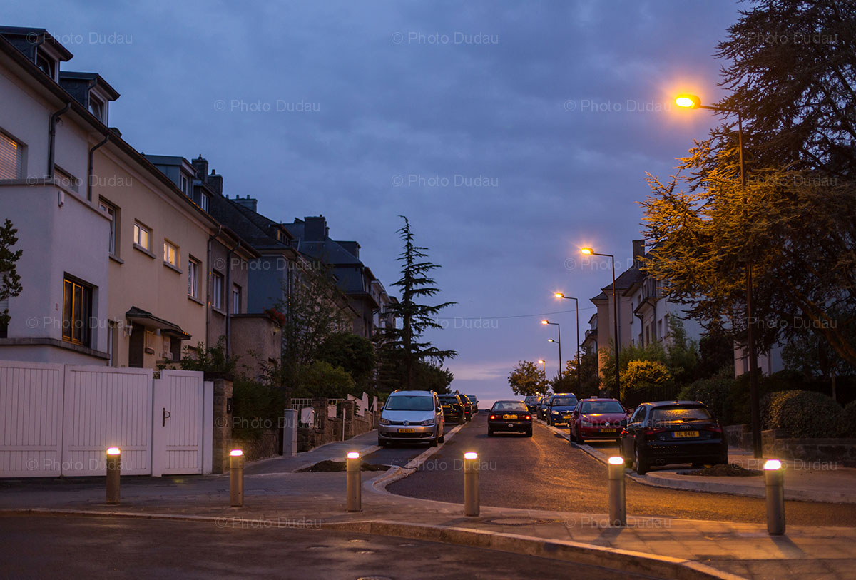 Evening in Belair, Luxembourg city.